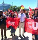 Делегація ФПУ взяла участь у марші та мітингу на площі біля будинку ООН у Женеві